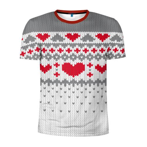 Мужская футболка 3D спортивная Сердечки