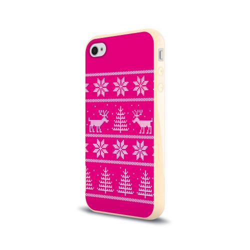Чехол для Apple iPhone 4/4S силиконовый глянцевый Олени в горах Фото 01