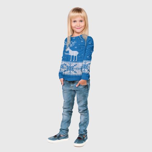 Детский лонгслив 3D  Фото 04, Олень - класс