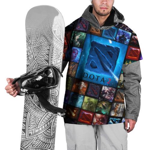 Накидка на куртку 3D  Фото 01, Dota 2 коллаж  логотип