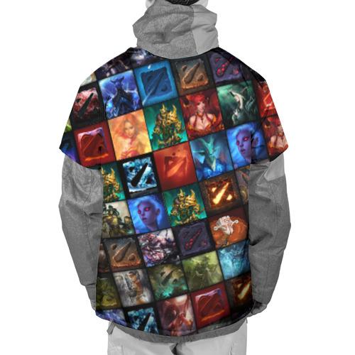Накидка на куртку 3D  Фото 02, Dota 2 коллаж  логотип