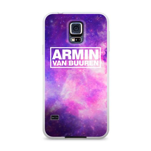 Чехол для Samsung Galaxy S5 силиконовый глянцевый  Фото 01, Космос