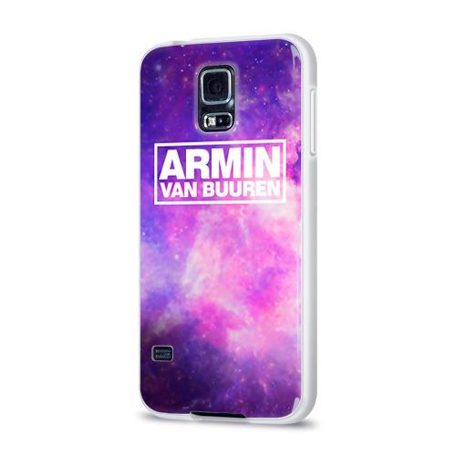 Чехол для Samsung Galaxy S5 силиконовый глянцевый  Фото 03, Космос