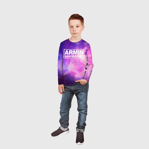 Детский лонгслив 3D  Фото 05, Космос