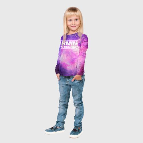Детский лонгслив 3D  Фото 04, Космос