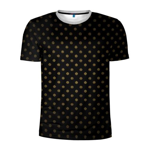 Мужская футболка 3D спортивная Узоры
