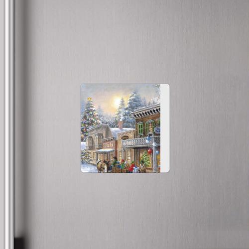 Магнит виниловый Квадрат  Фото 04, Новый год