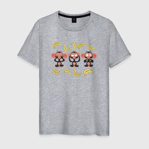 Мужская футболка хлопок Обезьянки Фото 01