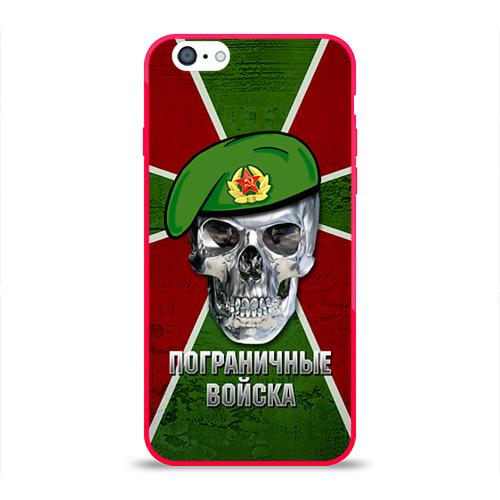 Чехол для Apple iPhone 6 силиконовый глянцевый  Фото 01, Пограничные войска