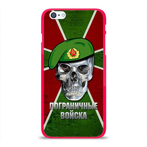 """Чехол силиконовый глянцевый для Apple iPhone 6 Plus """"Пограничные войска"""" - 1"""