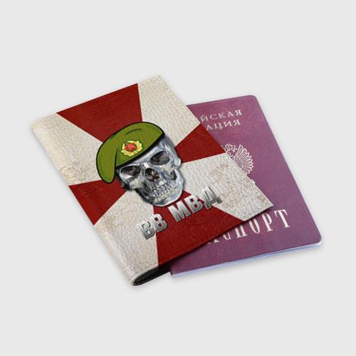 Обложка для паспорта матовая кожа  Фото 03, ВВ МВД