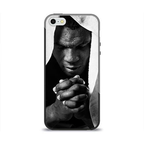 Чехол для Apple iPhone 5/5S силиконовый глянцевый Майк Тайсон от Всемайки