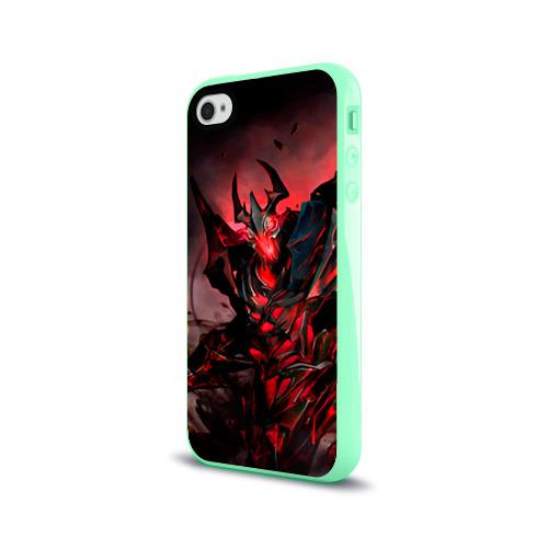 Чехол для Apple iPhone 4/4S силиконовый глянцевый Shadow Fiend Фото 01