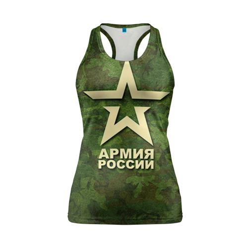 Женская майка 3D спортивная Армия России