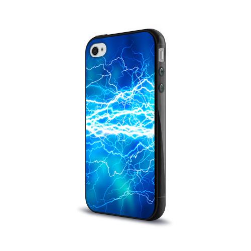 Чехол для Apple iPhone 4/4S силиконовый глянцевый  Фото 03, Молния