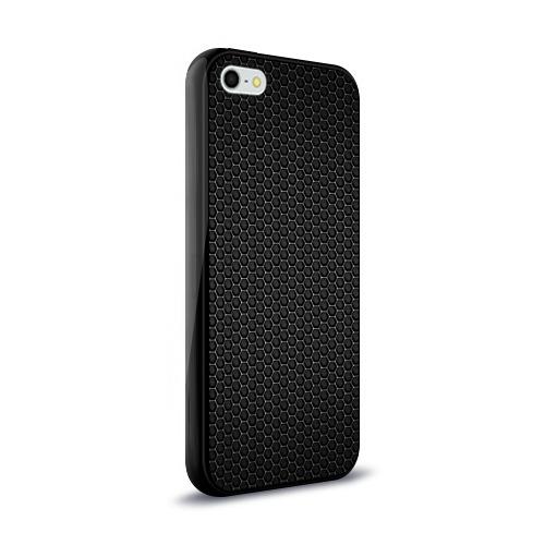 Чехол для Apple iPhone 5/5S силиконовый глянцевый Metal Texture Фото 01
