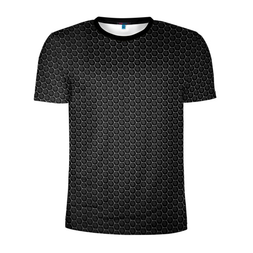 Мужская футболка 3D спортивная Metal Texture
