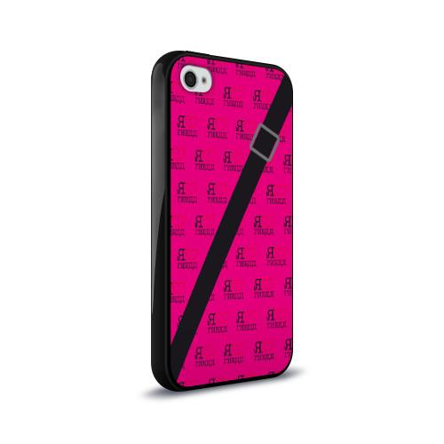Чехол для Apple iPhone 4/4S силиконовый глянцевый  Фото 02, Я люблю ГИБДД