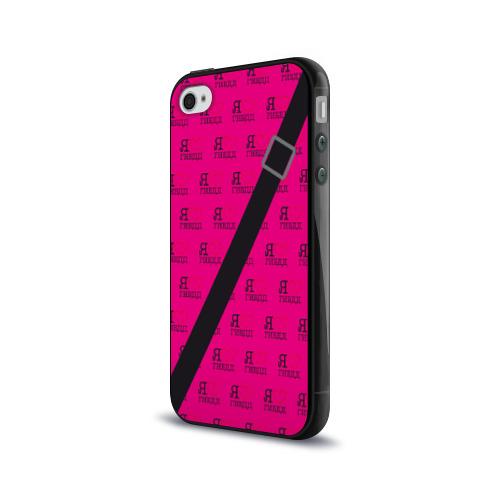 Чехол для Apple iPhone 4/4S силиконовый глянцевый  Фото 03, Я люблю ГИБДД