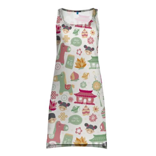 Платье-майка 3D Новый год