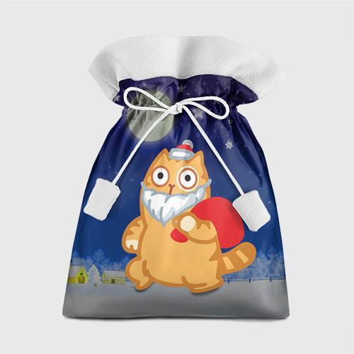 Подарочный 3D мешок Новогодний кот