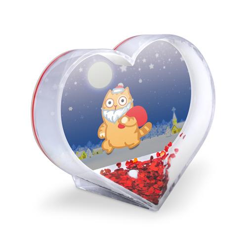 Сувенир Сердце  Фото 03, Новогодний кот