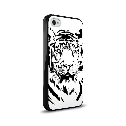 Чехол для Apple iPhone 4/4S силиконовый глянцевый  Фото 02, Тигр
