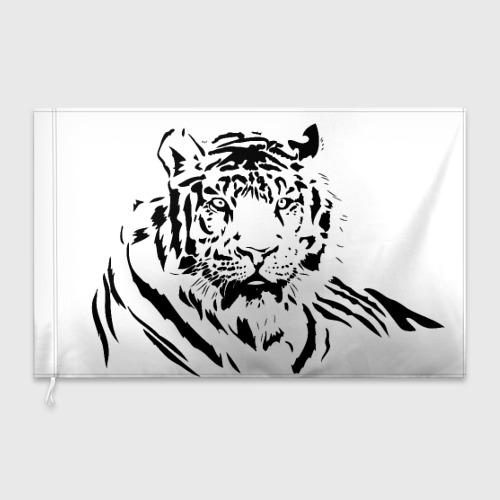 Флаг 3D  Фото 03, Тигр