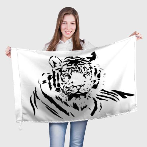 Флаг 3D  Фото 01, Тигр