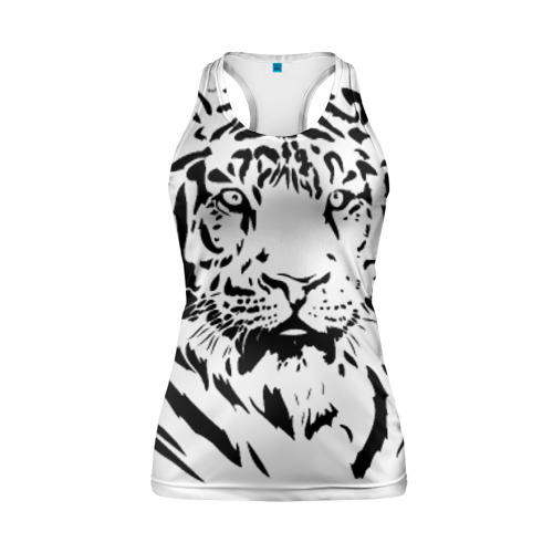Женская майка 3D спортивная Тигр