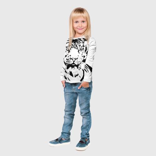 Детский лонгслив 3D Тигр Фото 01