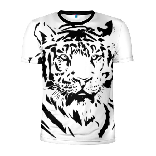 Мужская футболка 3D спортивная Тигр