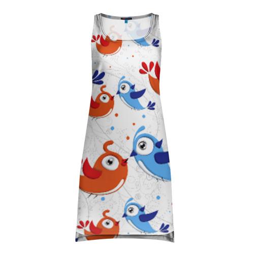 Платье-майка 3D Птицы
