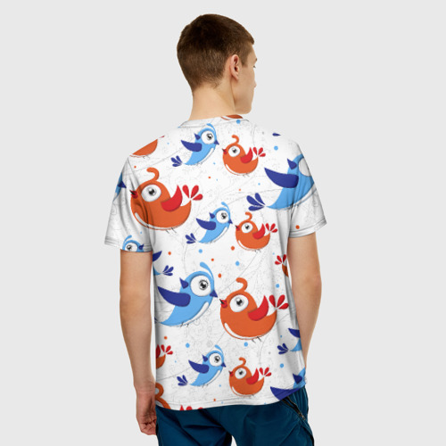 Мужская футболка 3D  Фото 02, Птицы