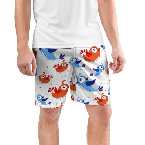 Мужские шорты 3D спортивные  Фото 03, Птицы