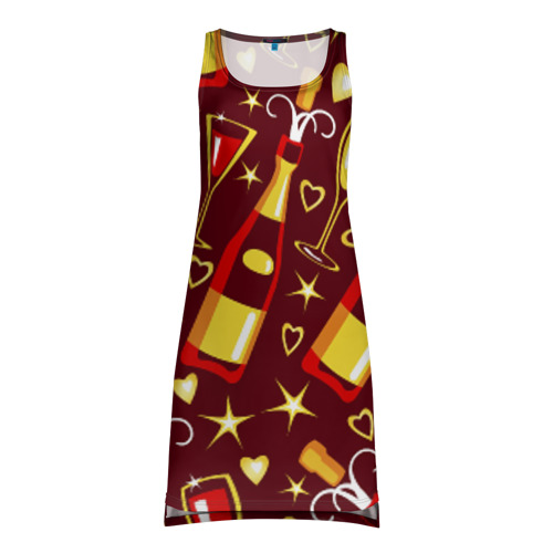 Платье-майка 3D Шампанское