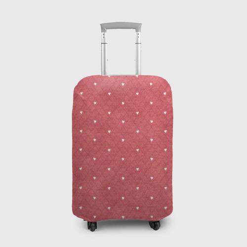 Чехол для чемодана 3D Сердечки Фото 01