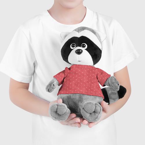Енотик в футболке 3D Сердечки Фото 01