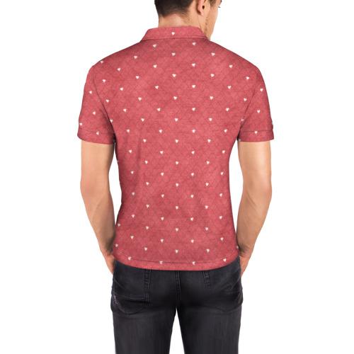 Мужская рубашка поло 3D  Фото 04, Сердечки