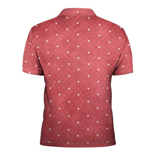 Мужская рубашка поло 3D  Фото 02, Сердечки