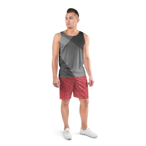 Мужские шорты спортивные Сердечки Фото 01