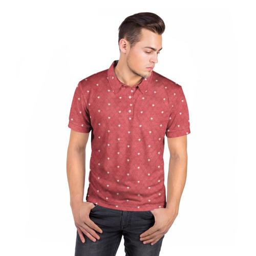Мужская рубашка поло 3D  Фото 05, Сердечки