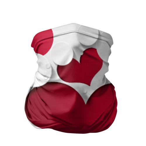 Бандана-труба 3D Сердца