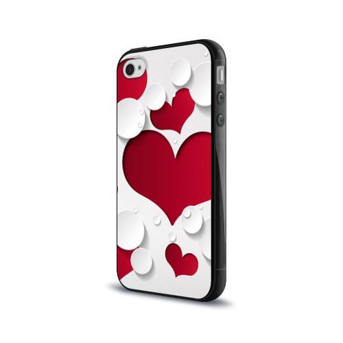 Чехол для Apple iPhone 4/4S силиконовый глянцевый  Фото 03, Сердца