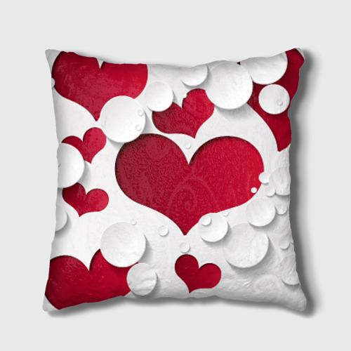 Подушка 3D Сердца Фото 01