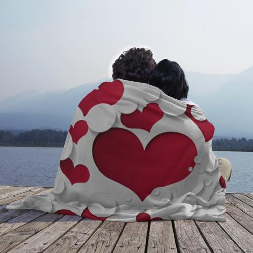 Плед 3D Сердца Фото 01