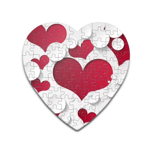 Пазл сердце 75 элементов Сердца от Всемайки