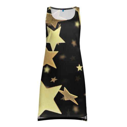 Платье-майка 3D Золотые звезды