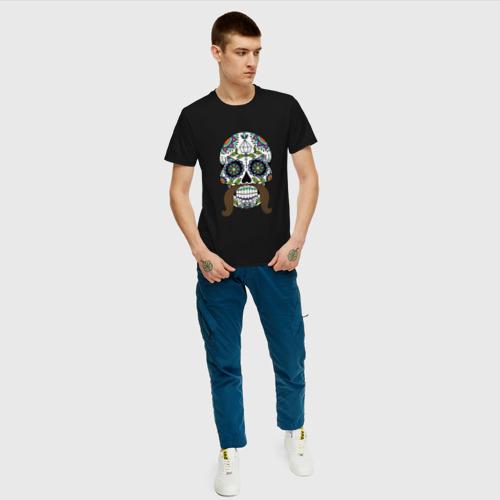 Мужская футболка хлопок Мексиканский череп для него Фото 01