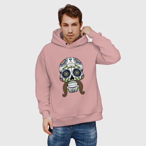 Мужское худи Oversize хлопок Мексиканский череп для него Фото 01